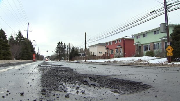 HRM spokeswoman Janet Bryson says the municipality traditionally sees potholes around the third week of January or in early February, but this year weather conditions have made for bumpier driving conditions.