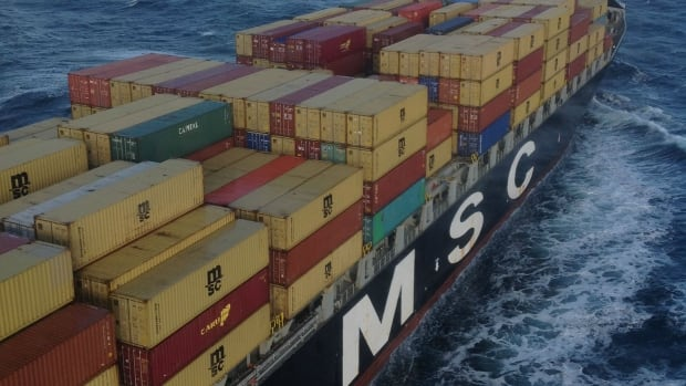 The master of the MSC Monterey issued a distress call Sunday after a crack was discovered in the Swiss-registered cargo ship's hull.