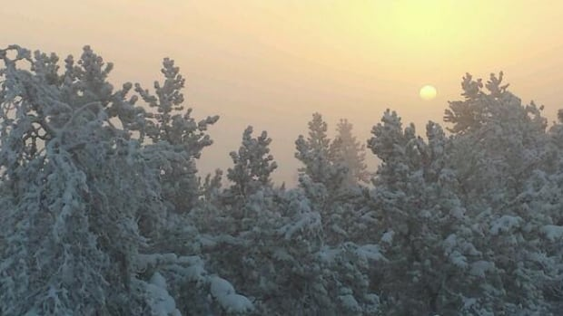Yellowknife, above, came close to breaking temperature records Tuesday. Temperatures fell to –43.4 C, around half a degree higher than the record low for Dec. 31, set in 1949.