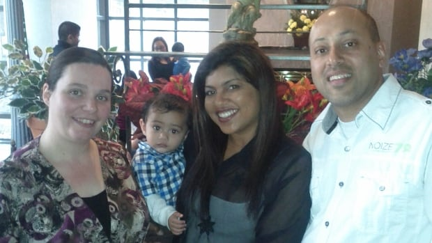 Soraya Grothe, left, with Liam, Taryn and Clayton Remedios during one of their visits.