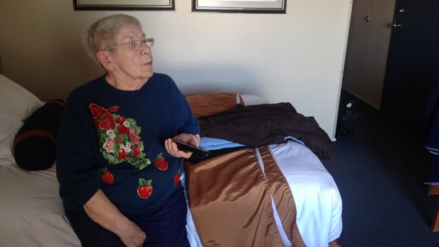 Shirley Appleyard is an 81-year-old tenant at a Maryland Street apartment building who was displaced when the building's furnace broke down on Christmas day.