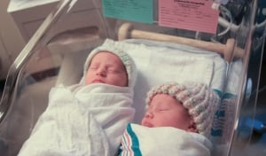 New Year's baby twins