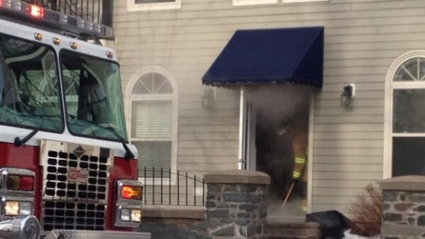 Fire crews respond to another burst pipe. This time at an apartment building on Inglis Street.