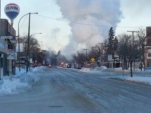 Fire in St. Vital