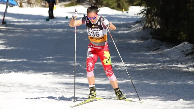 Cross-country skier Emily Nishikawa of Whitehorse races in Quebec in March 2012. Nishikawa will be competing this month for a spot on the national team heading to the Winter Olympics in Sochi, Russia.