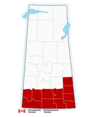 Winter storm warnings in southern Sask.