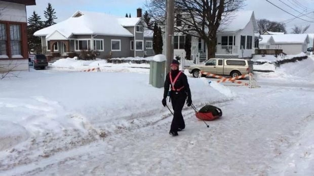 Sue Lucas trains for the Tuscobia Winter Ultra 241 kilometre race in Dauphin. She later went on to be the first woman to finish the race.