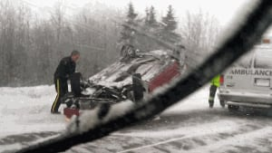 Police responded to numerous accidents on Friday, including this one on Highway 15