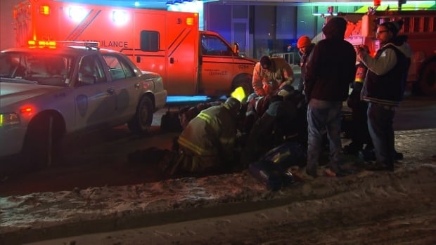 A woman in her early 20s is recovering from serious injuries after being hit by a car early Saturday morning. Police say she was crossing on a red light shortly after leaving a nearby bar.