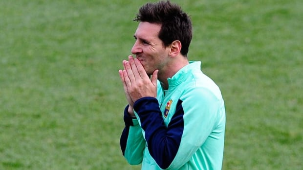 FC Barcelona's Lionel Messi has been out since tearing his left hamstring in November.
