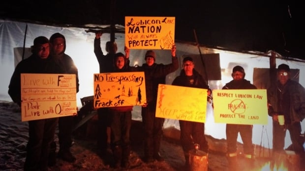 Members of the Lubicon First Nation protested fracking activities near Sawn and Haig lakes in northern Alberta for about three weeks before a court-granted injunction shut them down.