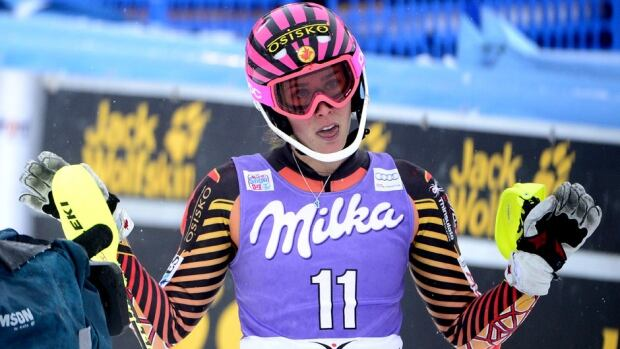 Canada's Marie-Michele Gagnon finished fifth in the Alpine World Cup women's slalom on Sunday in Bormio, Italy.