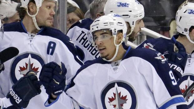 Evander Kane's injured hand has become infected, putting him out of the Jets lineup until after the Olympic break.