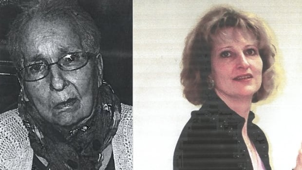 """Cecile McLelland, 74, has silver hair, wears glasses, and uses a wheelchair.  Her daughter, Diane D'Onofrio, is 53 years old, about 5'5"""" and has short blonde hair."""