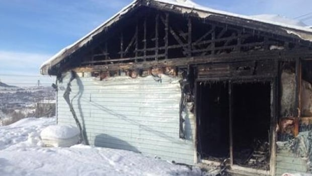 This house on Veterans Square in Corner Brook was extensively damaged by a fire on Saturday night.