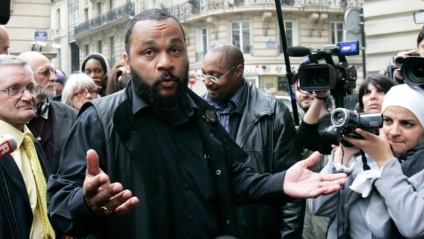 Controversial French comic Dieudonné M'bala M'bala, seen in Paris in 2009, has previously been convicted of inciting racial hatred or anti-Semitism in his performances.