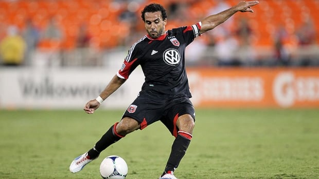 TFC's Dewayne De Rosario, seen here with D.C. United, ranks sixth on the all-time MLS scoring list with 103 goals.