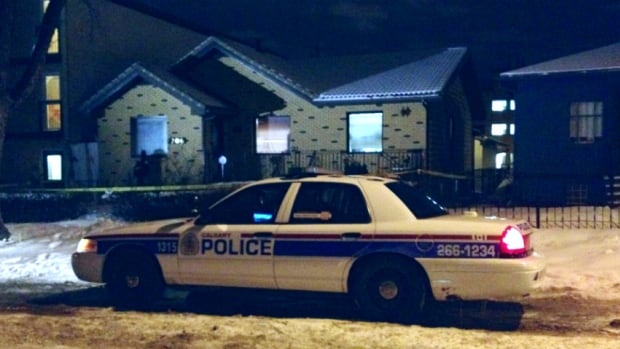 A family member discovered a body in a home in Bridgeland Monday night.