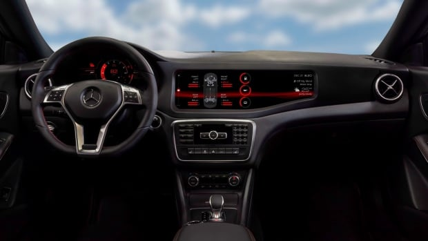 "This is an interior view of a QNX concept car as shown in a handout photo. The concept car features a QNX technology called ""engine sound enhancement."" In its most basic form, it's a soundtrack that plays a simulation of the engine both inside the car