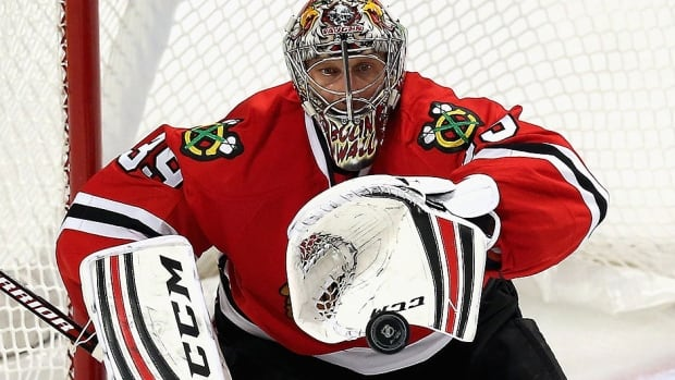 Goalie Nikolai Khabibulin, who has played only four games for the Blackhawks this season, had surgery Tuesday to repair a torn rotator cuff in his right shoulder and will be out four to five months.