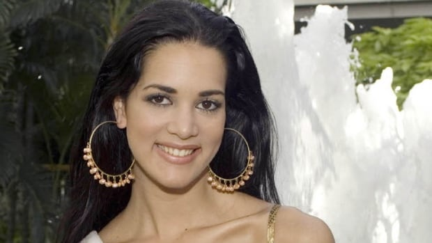 Monica Spear is seen here in photo taken before the Miss Universe competition in Bangkok, Thailand in May 2005. Venezuelan authorities say the soap-opera actress and her ex-husband were shot and killed resisting a robbery after their car broke down.