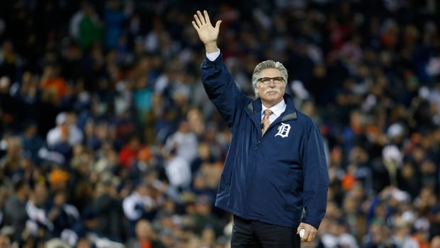 Former Detroit Tiger Jack Morris waves before throwing out the ceremonial first pitch before Game 5 of the American League baseball championship series between the Boston Red Sox and the Detroit Tigers on Oct. 17, 2013. The retired starting pitcher faces his last chance to make the Hall of Fame ballot on Wednesday.