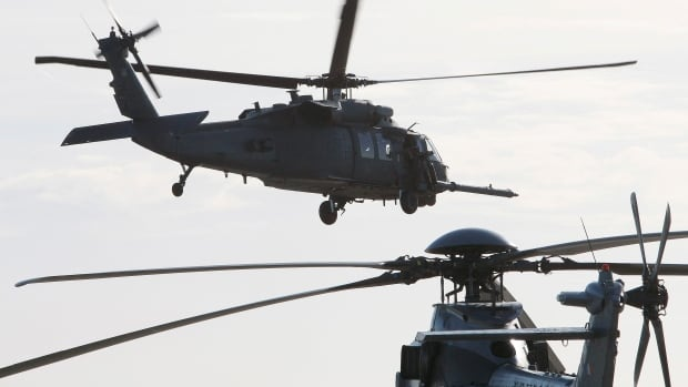 A HH-60 Pave Hawk helicopter flies over southwestern France, Jan. 13, 2010. Pave Hawks are often used for combat search and rescue missions, mainly to recover downed air crew members or other personnel.