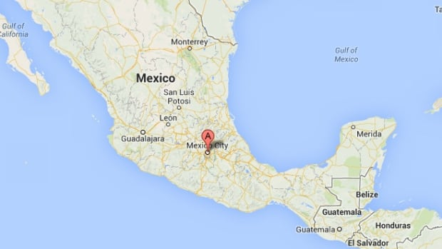 Google Map indicating Mexico City.