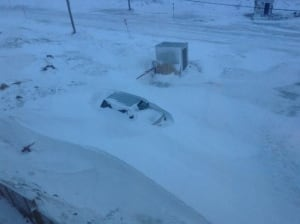 Digging out of Iqaluit