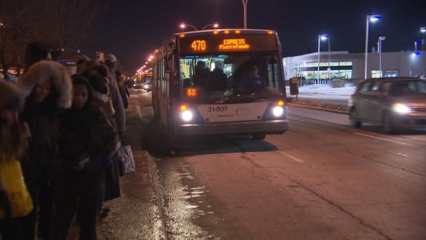 stm moves 470 bus stop back inside fairview terminus montreal cbc news. Black Bedroom Furniture Sets. Home Design Ideas