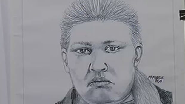Police in Hallandale Beach, Fla., released this composite sketch Wednesday of an unidentified woman seen on surveillance tape walking to the rear of the couple's home.