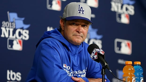 Manager Don Mattingly of the Los Angeles Dodgers before Game Six of the NLCS against the St. Louis Cardinals on October 18, 2013 in St Louis, Missouri.