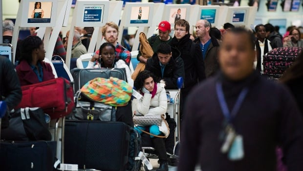 The atypically cold weather that hit Toronto Tuesday slowed ground operations on the tarmac at Pearson International Airport to a crawl and forced airport authorities to suspend incoming flights from North American destinations for several hours.  The resulting backlog and baggage delays left frustrated passengers waiting at the airport for hours.