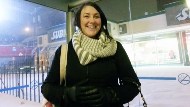 Ruth Hacko was all smiles with the warmer morning on Thursday in Winnipeg.