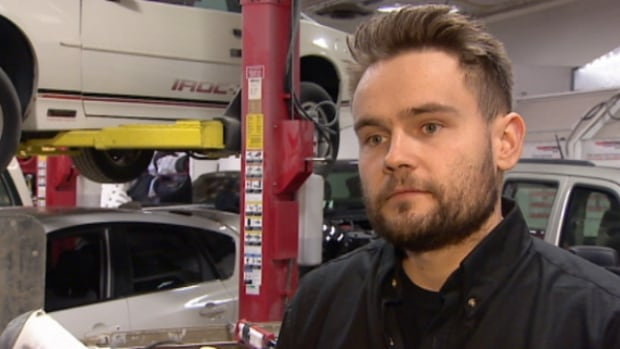 Konrad Grzeszczak, shop foreman at Pride Automotive, says his workload has doubled over last winter.