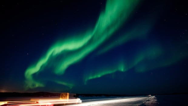 A view of the Aurora Borealis is shown near Yellowknife, N.W.T., in March 2012.  Much of Canada and the northern fringes of the U.S. should see the northern lights Thursday night, thanks to a strong solar flare earlier this week.