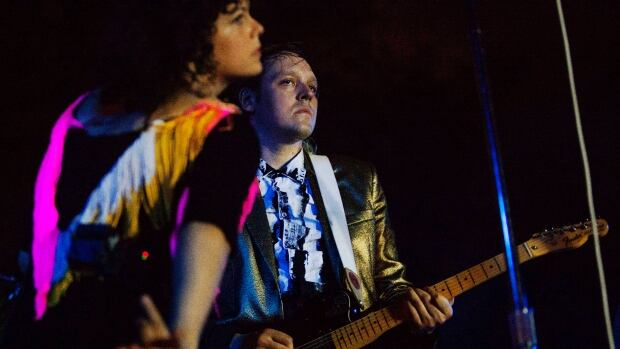 Arcade Fire, led by Win Butler (right) and Regine Chassagne, are once again nominated for the Polaris Prize, this time for the Montreal band's album Reflektor.