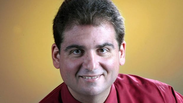 "Baseball writer and ESPN host Dan Le Batard, pictured in 2003, has been barred from future Hall of Fame voting after he acknowledged he gave his ballot to the website Deadspin because he detests the ""hypocrisy"" in the voting process."