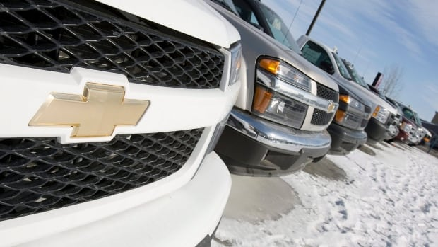 A General Motors dealership in Sainte-Anne de Beaupre, Que.  Canada had record sales of 1.74 million cars last year, partly because of favourable financing terms.