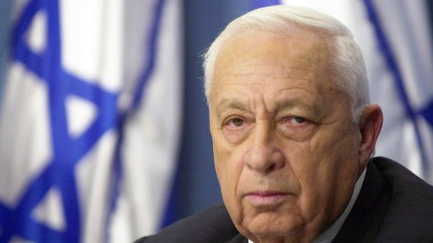 Israeli Prime Minister Ariel Sharon, seen here during a 2001 address to the nation, is in grave condition in hospital.