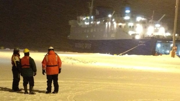 The Apollo left Corner Brook early Friday morning, with an icebreaker on hand to help with its crossing to Quebec.