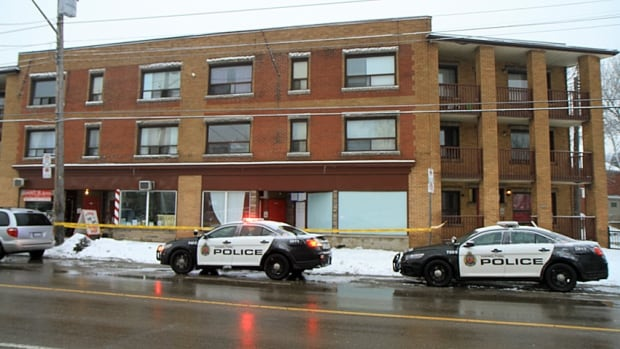 Police investigate the death of Ernie Sitter at an east Hamilton apartment building on Friday, January, 10, 2014. The 57-year-old man was found dead the previous day.