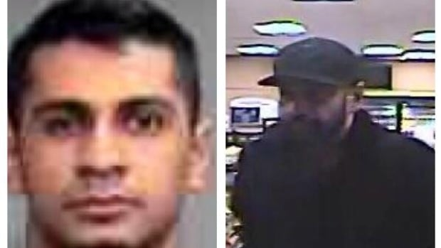Police released these images of Langley resident Harpal Dhaliwal, 30, who is wanted on several charges.
