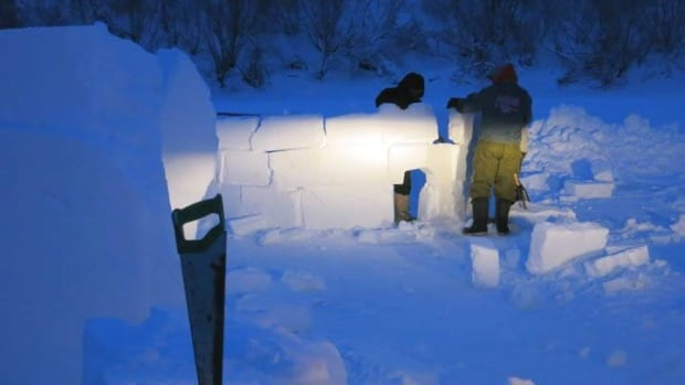 Crews spent the week building the Ice Road Cafe, a new addition to Inuvik's annual sunrise festival, which kicks off tonight.