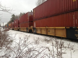 Trains are rolling again near Plaster Rock