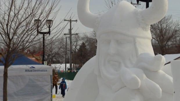 Edmonton's Deep Freeze festival will continue until 6 p.m. Sunday.