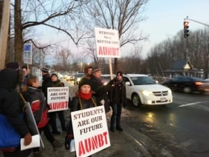 UNB picket line