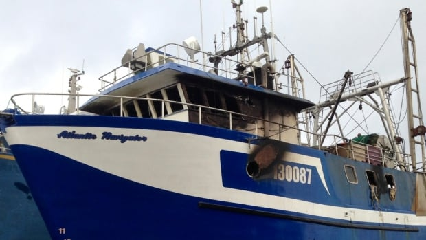 The fishing vessel Atlantic Navigator sustained fire damage at a drydock in Harbour Grace, in Conception Bay.