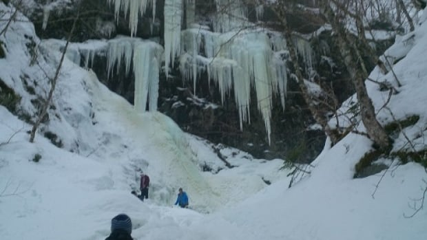 Fellow snowshoers formed a chain and stuck a ski pole into the water to save the man.