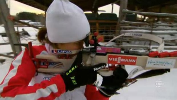 Megan Imrie is a biathlete from Falcon Lake, Manitoba.